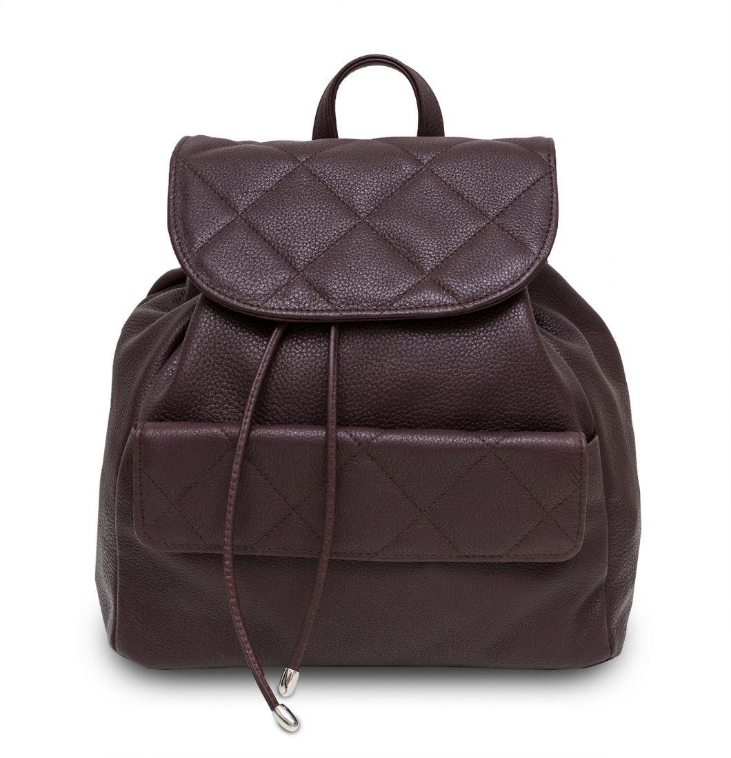 Hadley Biscuit Burgundy женский кожаный рюкзак