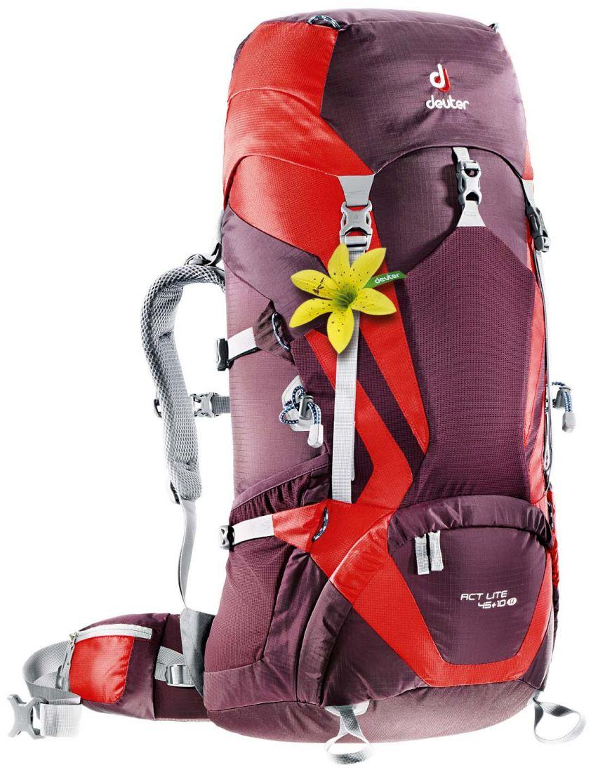 Deuter Aircontact Lite ACT Lite 45L + 10L SL aubergine-fire многофункциональный рюкзак