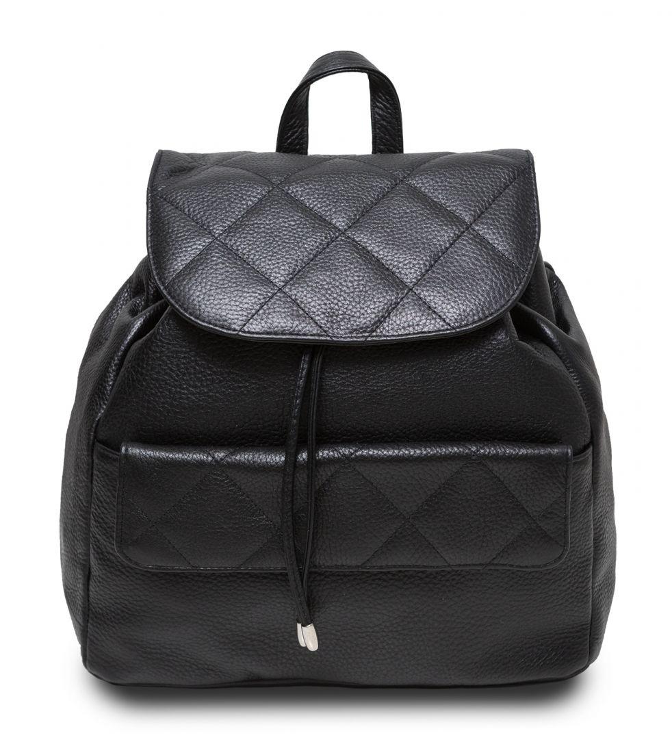 Hadley Biscuit Black женский кожаный рюкзак