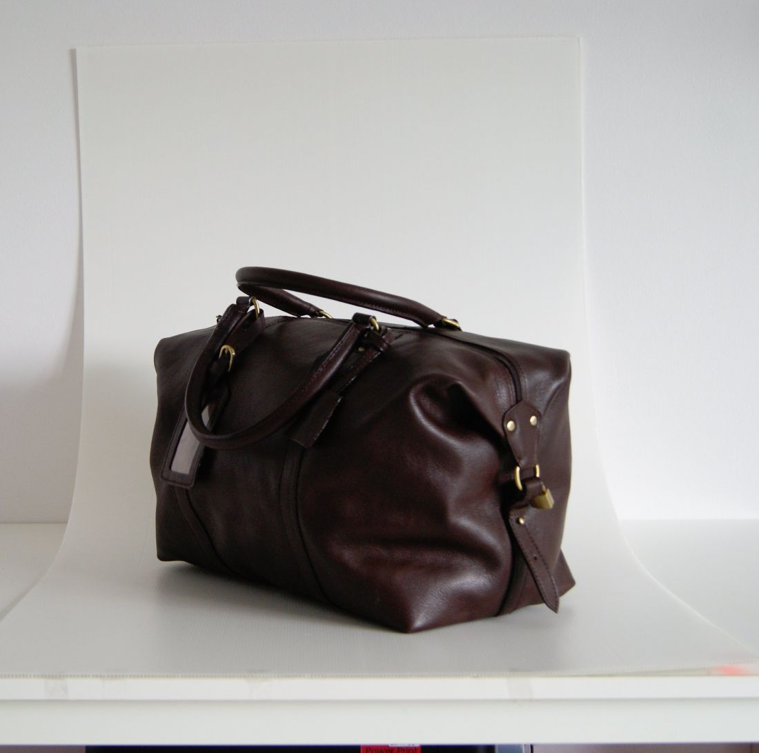 BUFALO BBJ01 SMALL BROWN дорожная кожаная сумка